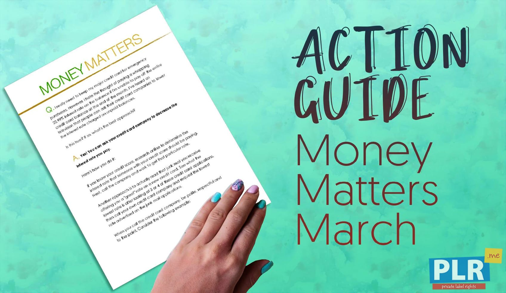 Money Matters March