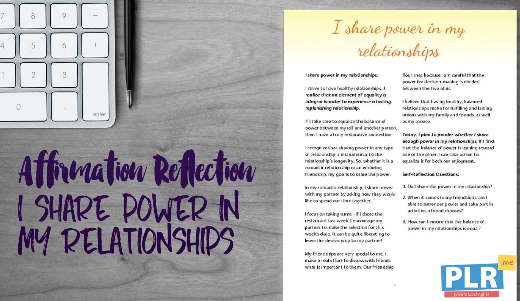 I Share Power In My Relationships